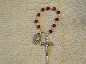 Saint Expedite Ruby Chaplet