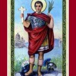 Lucky 13 Clover | St. Expedite Ruby Glass Chaplet and Prayer Card