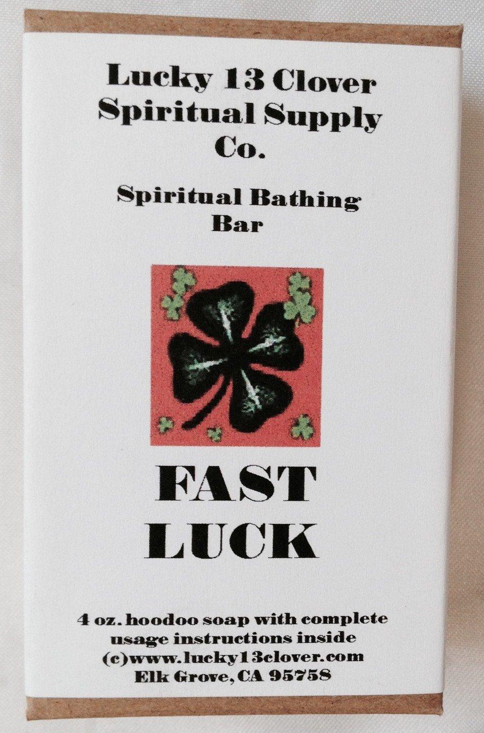 Lucky 13 Clover Fast Luck Spiritual Bathing Bar - Lucky 13 Clover