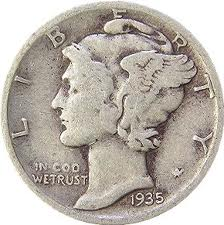Silver Mercury Dime for Hoodoo